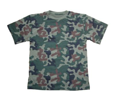 t-shirt in Polish camo