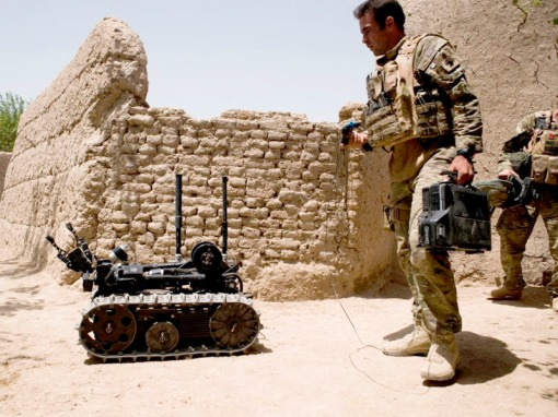 The Improvised Explosive Device is the biggest threat to life for troops on the ground in Afghanistan.  Scattered throughout Helmand Province, these indiscriminate weapons kill and maim both ISAF and Afghan soldiers as well as innocent Afghan civilians.    But the tide is turning in the fight against IEDs and the British Armed Forces now have a revolutionary new capability called Talisman which is being used to counter the threat.    15 Field Support Squadron, 21 Engineer Regiment who are based in Ripon, North Yorkshire, are the first troops to use the new system on the ground in Afghanistan.    Talisman is comprised of armoured vehicles, optical cameras and remote controlled vehicles.  This life saving equipment is being used to support Combat Logistics Patrols which can be up to several hundred vehicles in total which trek through the country, delivering vital supplies to bases for the troops on the front line.  Talisman is also starting to be used in combat infantry roles, such as for deliberate route clearances.